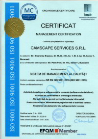 camscape certificat iso 9001