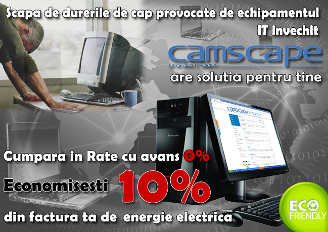 echipamente it - calculatoare si periferice in rate prin camscape si grenke