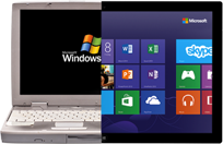 Windows XP vs Windows 8 - Laptop invechit versus tableta moderna