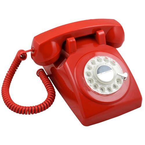 telefon cu disc rosu , retro 1970