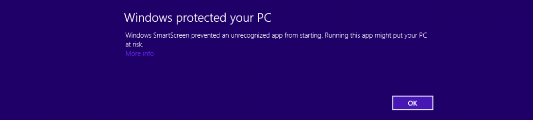 Ammy and cryptowall, Windows 8 Warn, Ammyy infected